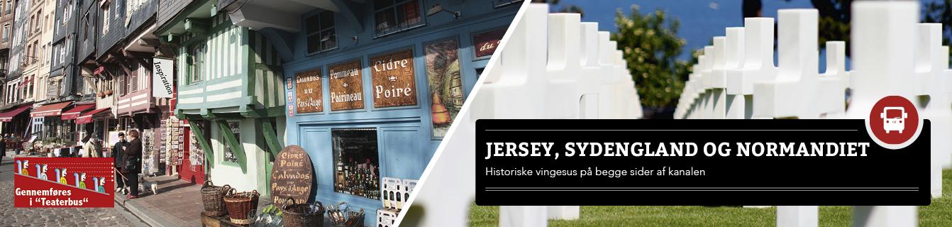 Jersey, Sydengland og Normandiet